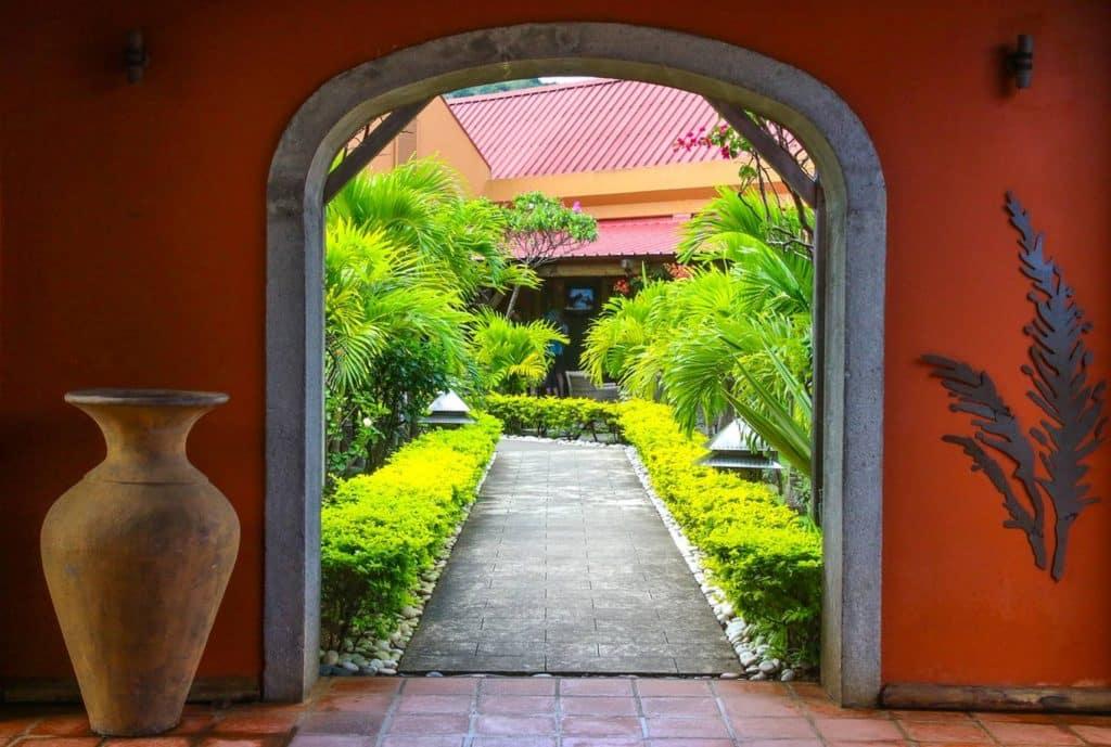 Archway into garden